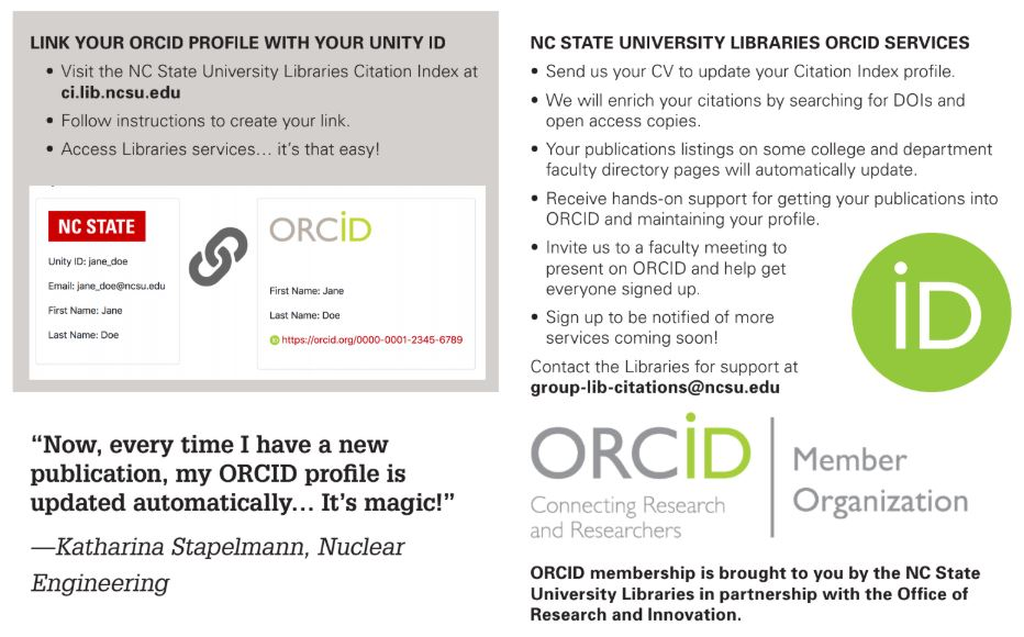 Unlocking Library Services with ORCID at North Carolina